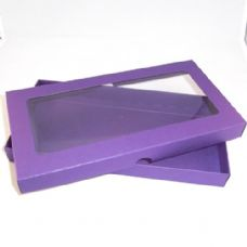 DL Purple Invitation Boxes With Aperture Lid